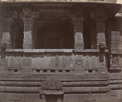 Close view of open portico of the Mahakali Temple (Kalika Mata Temple), Chittaurgarh [Chitorgarh]